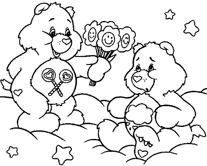 care bear valentines coloring pages - photo#20