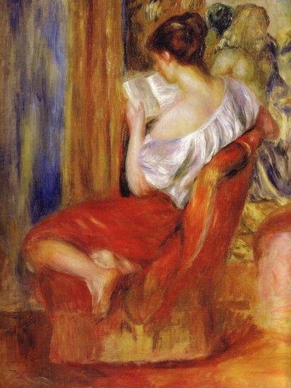 """La liseuse"" by Pierre Auguste Renoir"