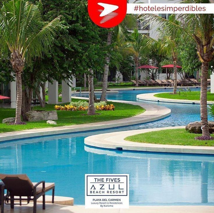 Azul Fives Resort cuenta con 5 piscinas, incluidas las piscinas de río lento que recorren todo el hotel, y una piscina Kids Club para niños de 4 a 12 años. #Buemestelleva #Hotelesimperdibles #AzulFives #PlayadelCarmen