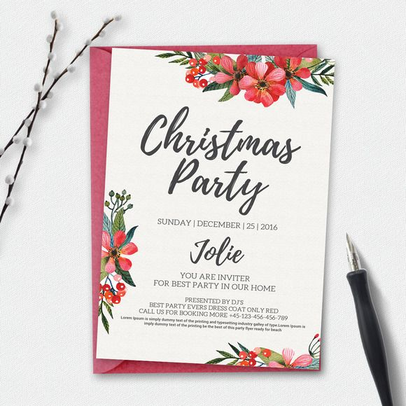 The 25+ best Holiday party invitation template ideas on Pinterest - free christmas invitations printable template