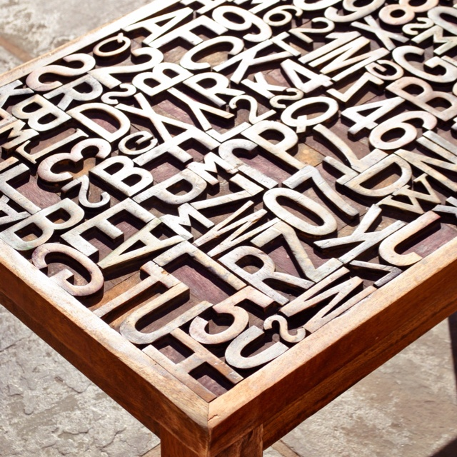 Letterpress Tray Coffee Table: 17 Best Images About Wood Type On Pinterest