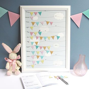 Framed Birthday Reminder Calendar