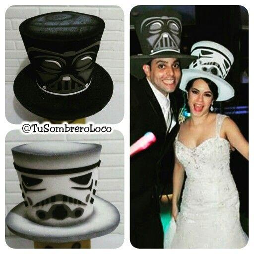 Que la fuerza los acompañe #boda #starwars #sombreros #fiestastematicas…