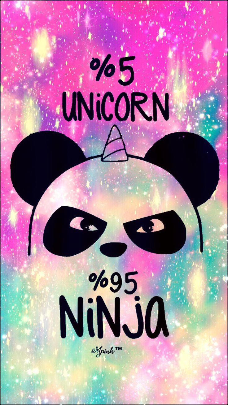 5% Unicorn 95% Ninja Galaxy iPhone/Android Wallpaper I Created For The App Top Chart