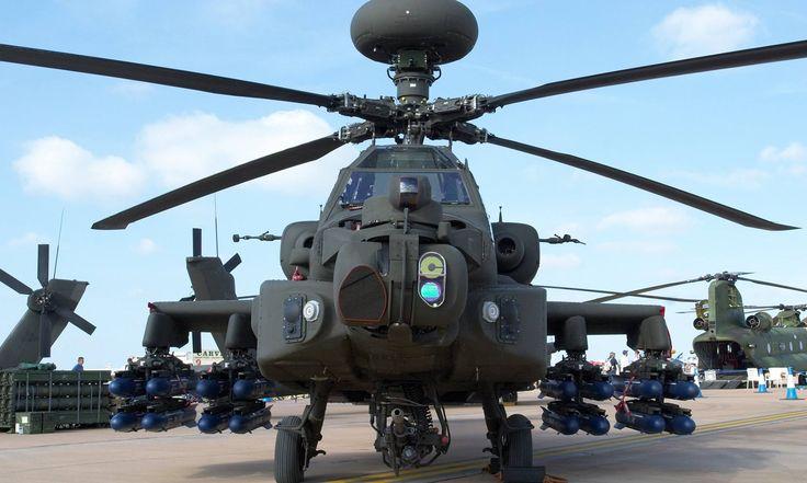 Full loaded Boeing AH-64 Apache Longbow