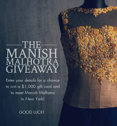 Enter to win a $1,000 gift card to the official #ManishMalhotra online store. Click for details: http://anokhimedia.com/blog/manish-malhotra-giveaway #fashion #Indian #collection #designer