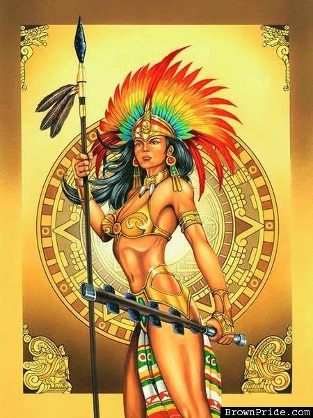 Aztec Queen • Mexican Art and Graphics