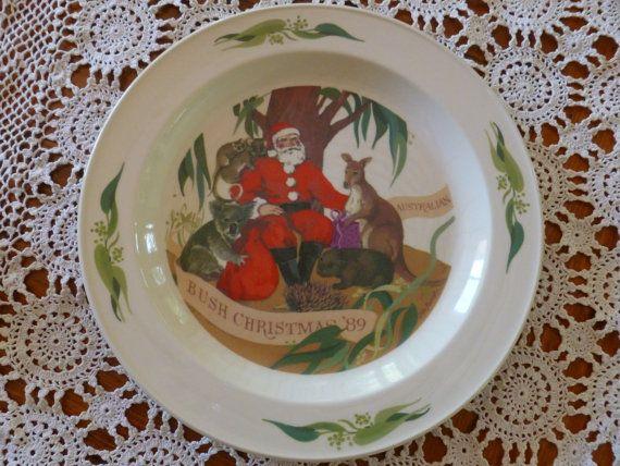 Vintage Bendigo Pottery Bush Christmas Plate by MuskRoseVintage