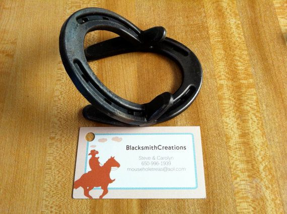 176 best hubbys horseshoes images on pinterest horse shoes good horseshoe business card holder selling for 1150 colourmoves