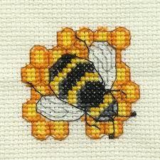 Cross stitch bee example