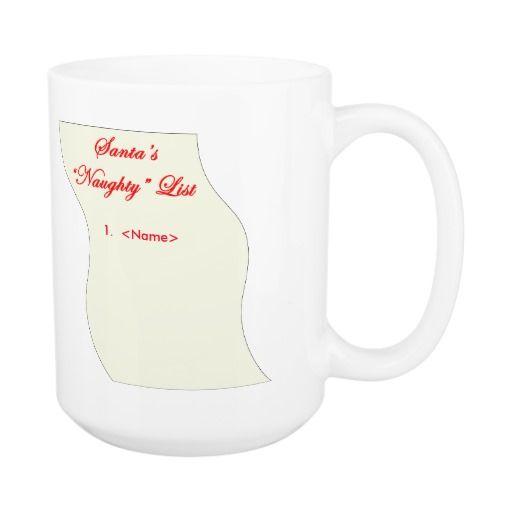 #1 on Santa's Naughty List Classic White Coffee Mug