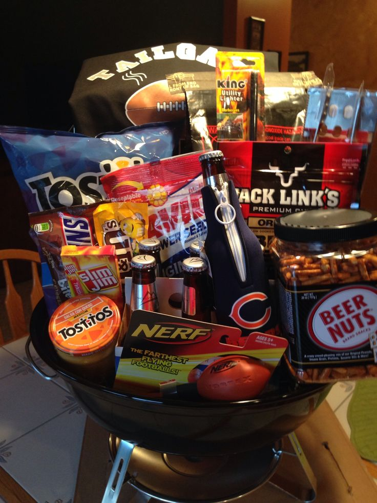 Gift Basket For Fundraiser Tailgate Basket Gifts
