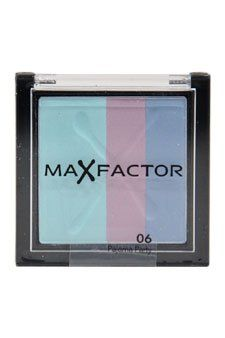 Max Factor Max Color Effect Trio Eyeshadow for Women, # 06 Pajama Party, 0.12 Ounce. Max color effect trio eyeshadow # 06 pajama party was launched by the design house of Max Factor. It is recommended for daily use; Please store in a cool dry place. 3.5 gram eyeshadow.