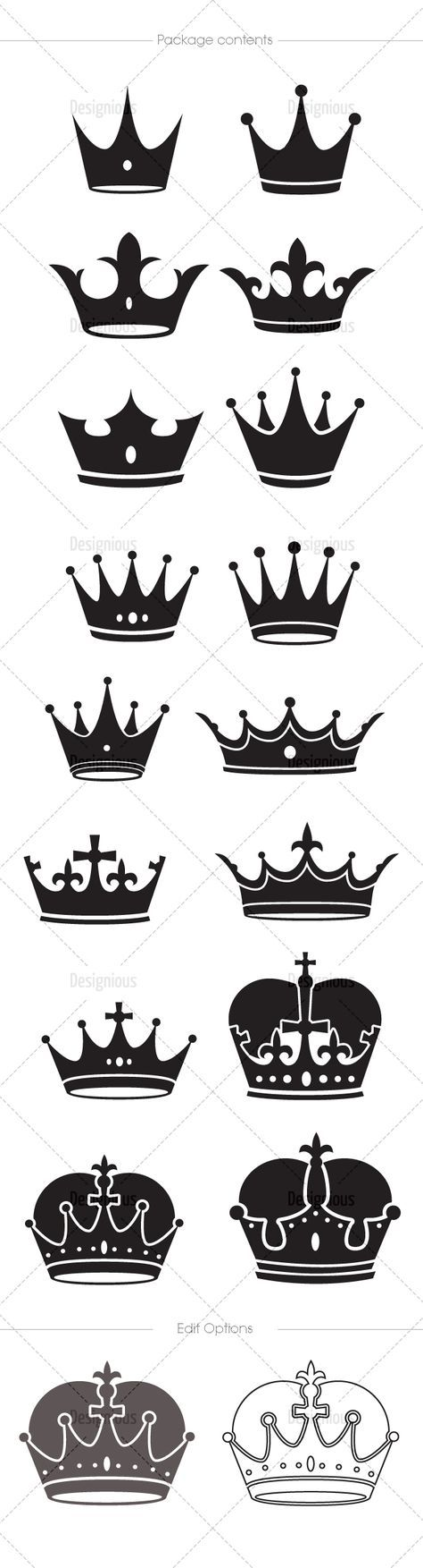 Crowns Vector Pack 5 | Designious