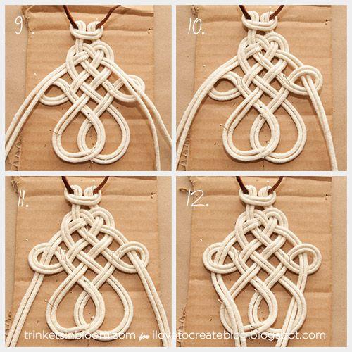 iLoveToCreate Blog: DIY Dip Dye Macramé Necklace                              …
