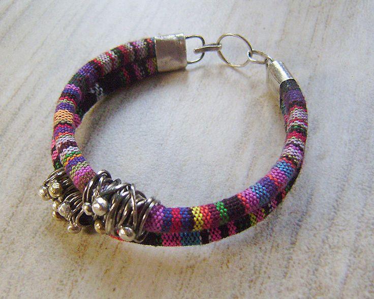 Kolorowa bransoleta duo w artkatalina -  biżuteria artystyczna na DaWanda.com