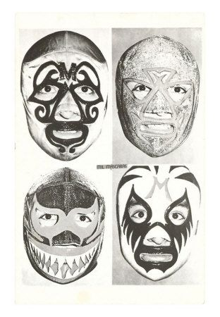 MX-00131-C~Masks-of-Mexican-Wrestlers-Posters