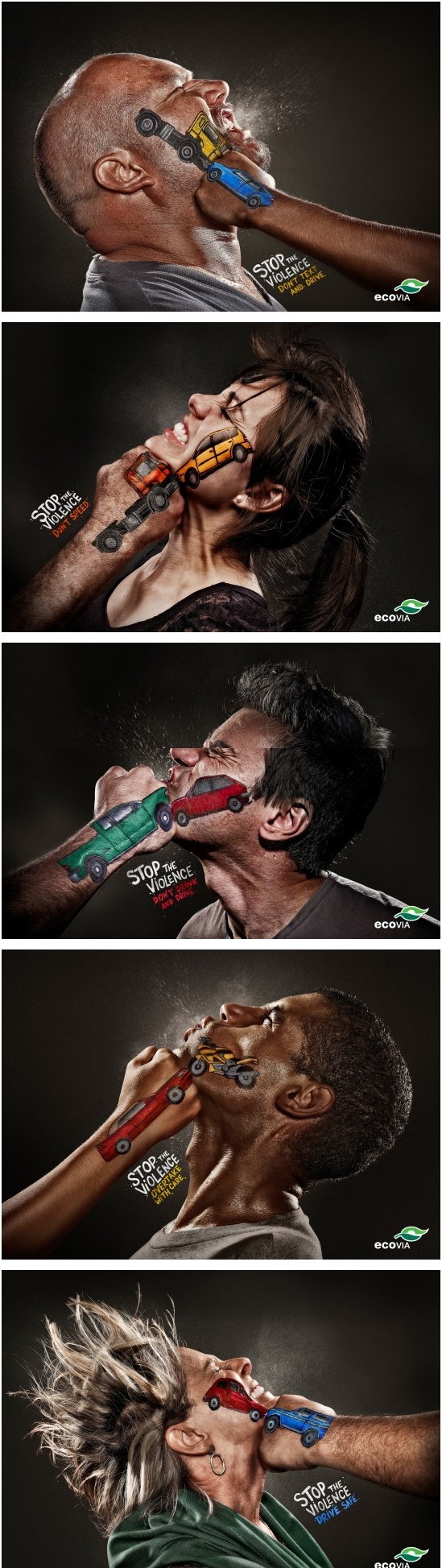 Magnifique campagne de prévention contre l'alcool au volant réalisée par l'agence Terremoto Propaganda (Brésil)