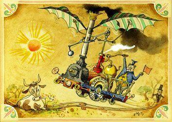 Inspiration   1950s Rowland Emetts Flying Machine