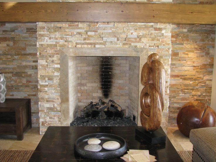 Newer Stone Fireplace