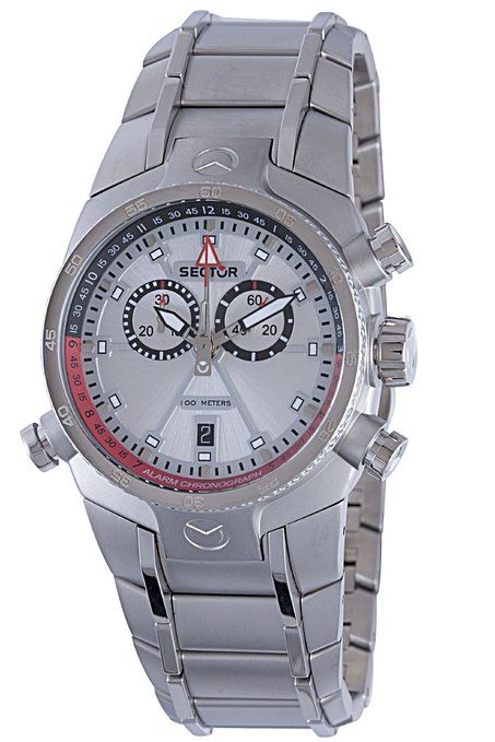Sector R3273695215 40.2mm Silver Steel Bracelet & Case Acrylic Men's Watch