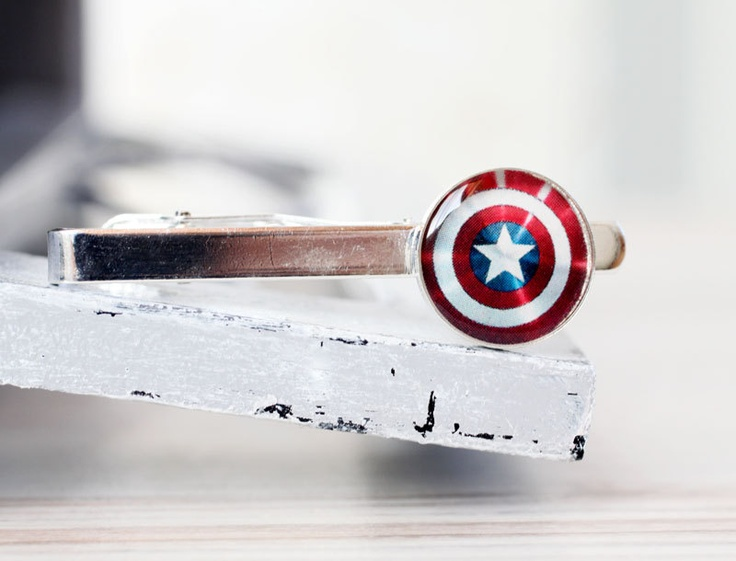 Captain America Shield Tie Clip