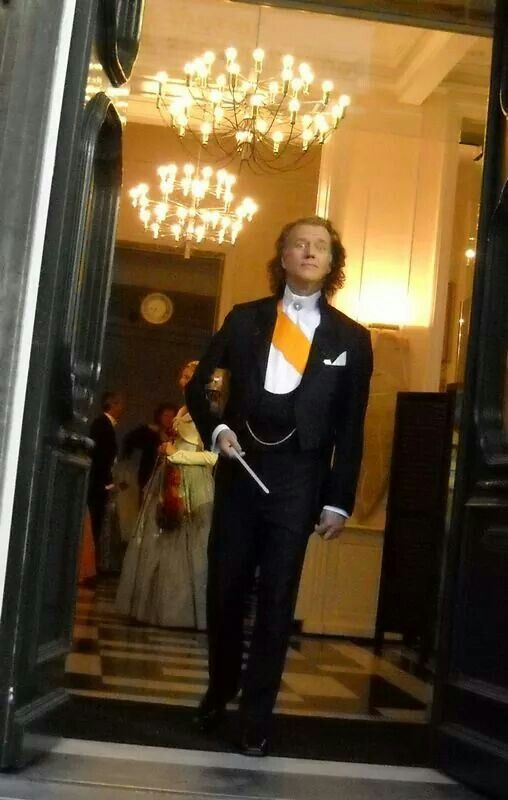 Andre Rieu before concert