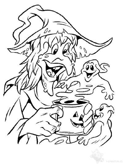 Čarodějnice omalovánky - pálení
