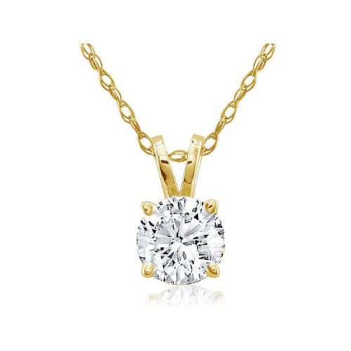 1.00 Karat Diamantanhänger in 585er Gelbgold inklusive Goldkette von www.juwelierhausabt.de in Dortmund