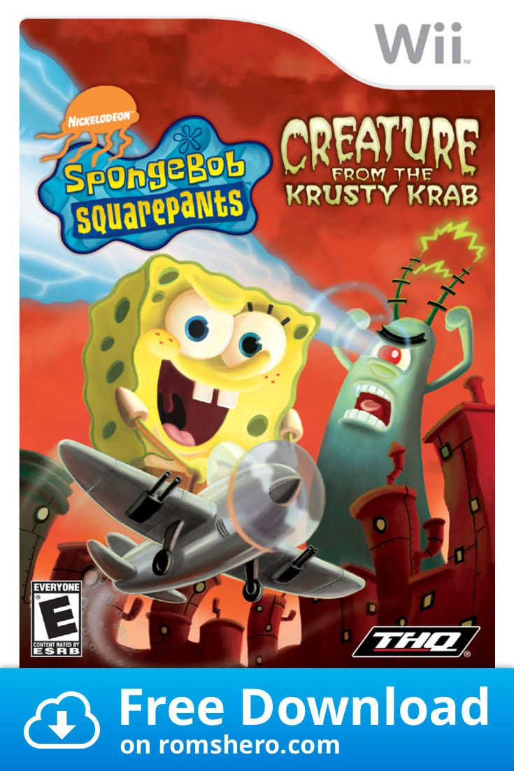 Download Spongebob Squarepants Creature From The Krusty Krab Nintendo Wii Wii Isos Rom Spongebob Squarepants Spongebob Spongebob Games