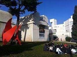 Ingang van het Miró museum - De Fundació Joan Miró is een museum voor moderne kunst, gelegen op de berg Montjuïc in Barcelona.