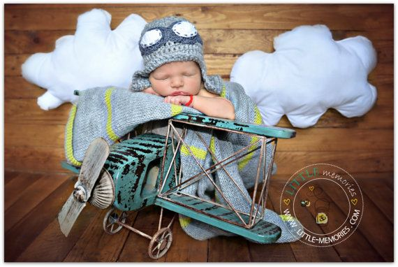 Aviator Pilot hat newborn photo prop