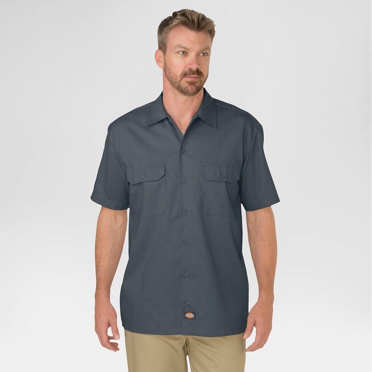 Dickies Men's Big & Tall Original Fit Short Sleeve Twill Work Shirt- Charcoal (Grey) Xxl Tall