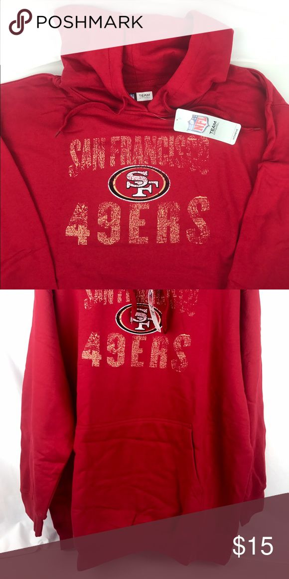 San Francisco 49ers Plus Size Women's Hoodie Brand New Officially Licensed with tags hard to find plus size Women's Hoodie. This 80% cotton/20% poly blend hoodie is as soft as can be.  Much needed addition to the closet on those brisk Bay Area mornings and evenings. (2X)889758650855 (3X)889758650862 Team Apparel Tops Sweatshirts & Hoodies