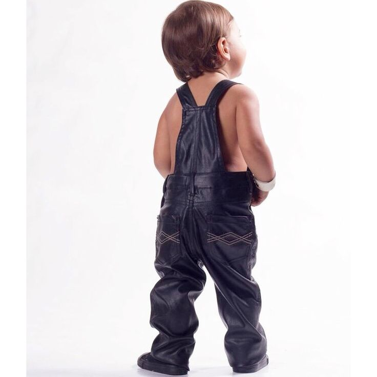 FAUX LEATHER OVERALLS  Girls fashion, boys fashion, kids leather