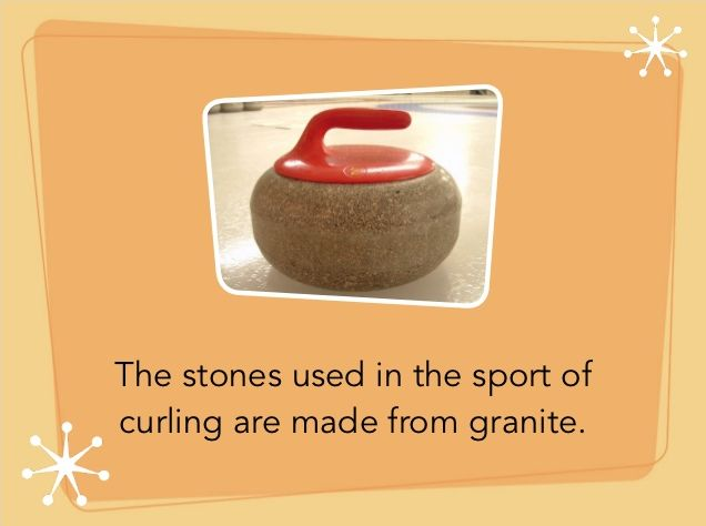 Granite Fun Facts The Stones In The Awesome Sport Of Curling Are Made From Granite Fun Facts Granite Video Marketing