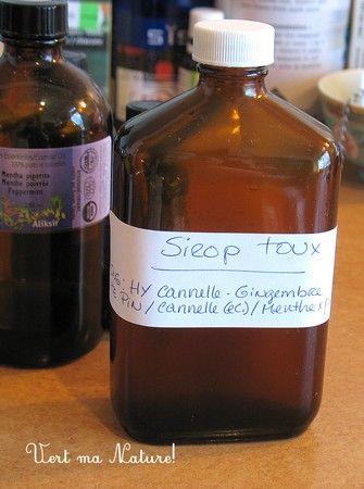sirop pour la toux aux huiles essentielles prêt en 5 minutes - tutoriel - Nathalie Chausseau