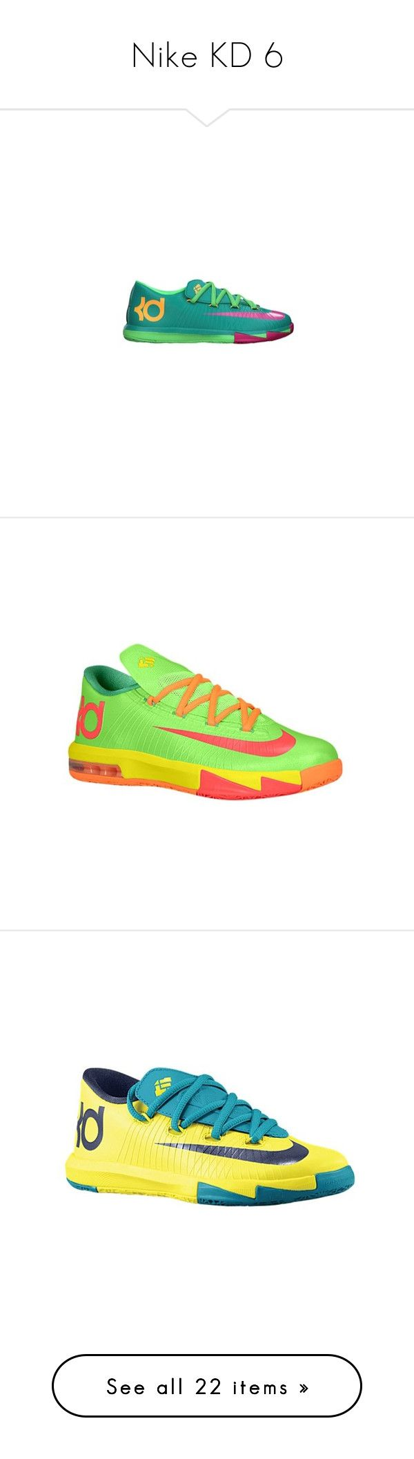 """Nike KD 6"" by aniahrhichkhidd ❤ liked on Polyvore featuring shoes, kd, sneakers, nike, jordans, kd's and kds"