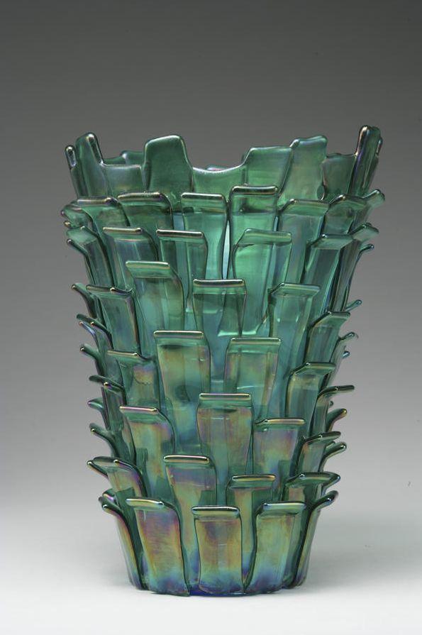 Fulvio Bianconi; Glass Vase for Venini, 1989.