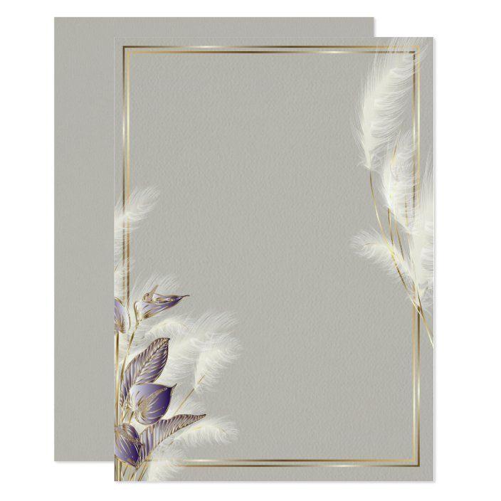 Invitacion Grados Amethyst Anthurium Y Feathery Pampas Zazzle Com Vintage Flowers Wallpaper Flower Graphic Flower Graphic Design