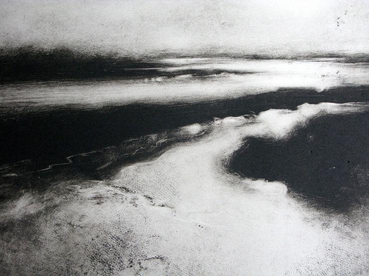 Winter Morning, Woodbridge I (monotype) - Chrissy Norman