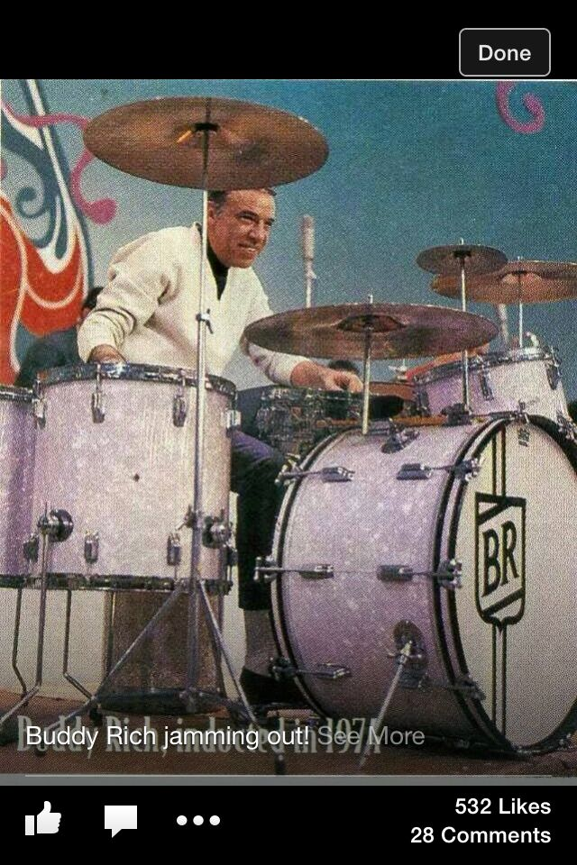 The Great Buddy on the Great Rogers Drums!