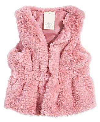 33c9498af194 First Impressions Baby Girls Faux-Fur Vest
