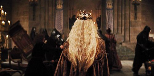 She walked through the crowd with her head held high, though her heart was as heavy as the crown that was placed upon her head