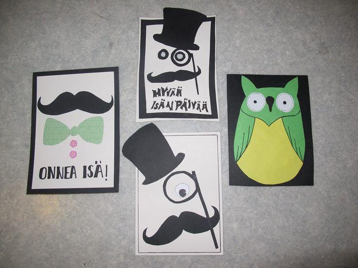 Moderneja isänpäiväkortteja (Alakoulun aarreaitta FB -sivustosta / Maija Kansanen)