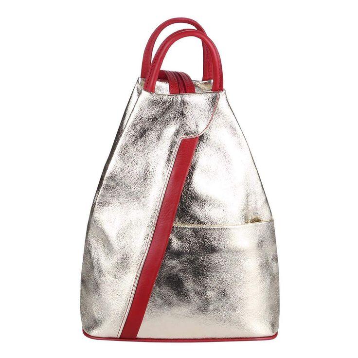 Made in Italy Damen echt Leder Rucksack Backpack Lederrucksack Tasche Schultertasche Ledertasche Nappaleder – kub kubali