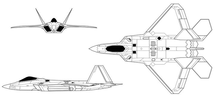 f22 raptor diagram