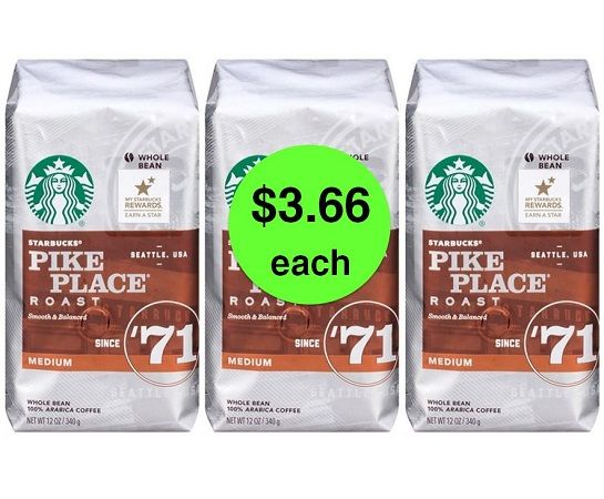 CHEAP Starbucks Coffee Alert! Find Starbucks Bagged Coffee Just $3.66 Each at Target! ~ Going On Now! via @truecouponing