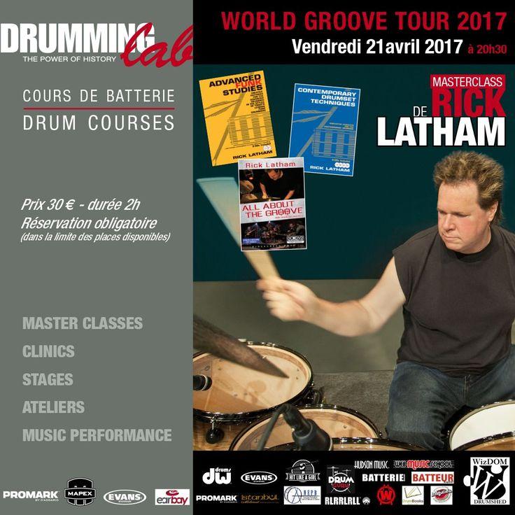 Master-class exceptionnel de l'un des  plus célèbres #batteurs de studio et l'un des meilleurs pédagogue au monde dont les méthodes font parties des grands classiques de l'apprentissage Monsieur RICK LATHAM!! #Rick #Latham #DrummingLab #Paris #Frederick #Rimbert  #drumschool #drummer #drumming #drumlife
