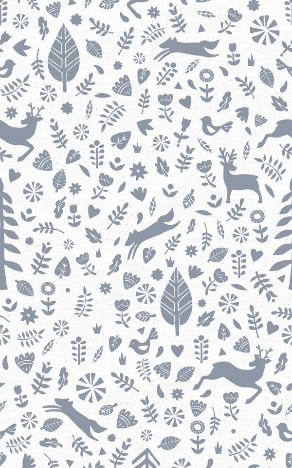 Blue Scandi Woodland Wallpaper Mural Muralswallpaper In 2020 Scandinavian Wallpaper Scandinavian Folk Art Mural Wallpaper